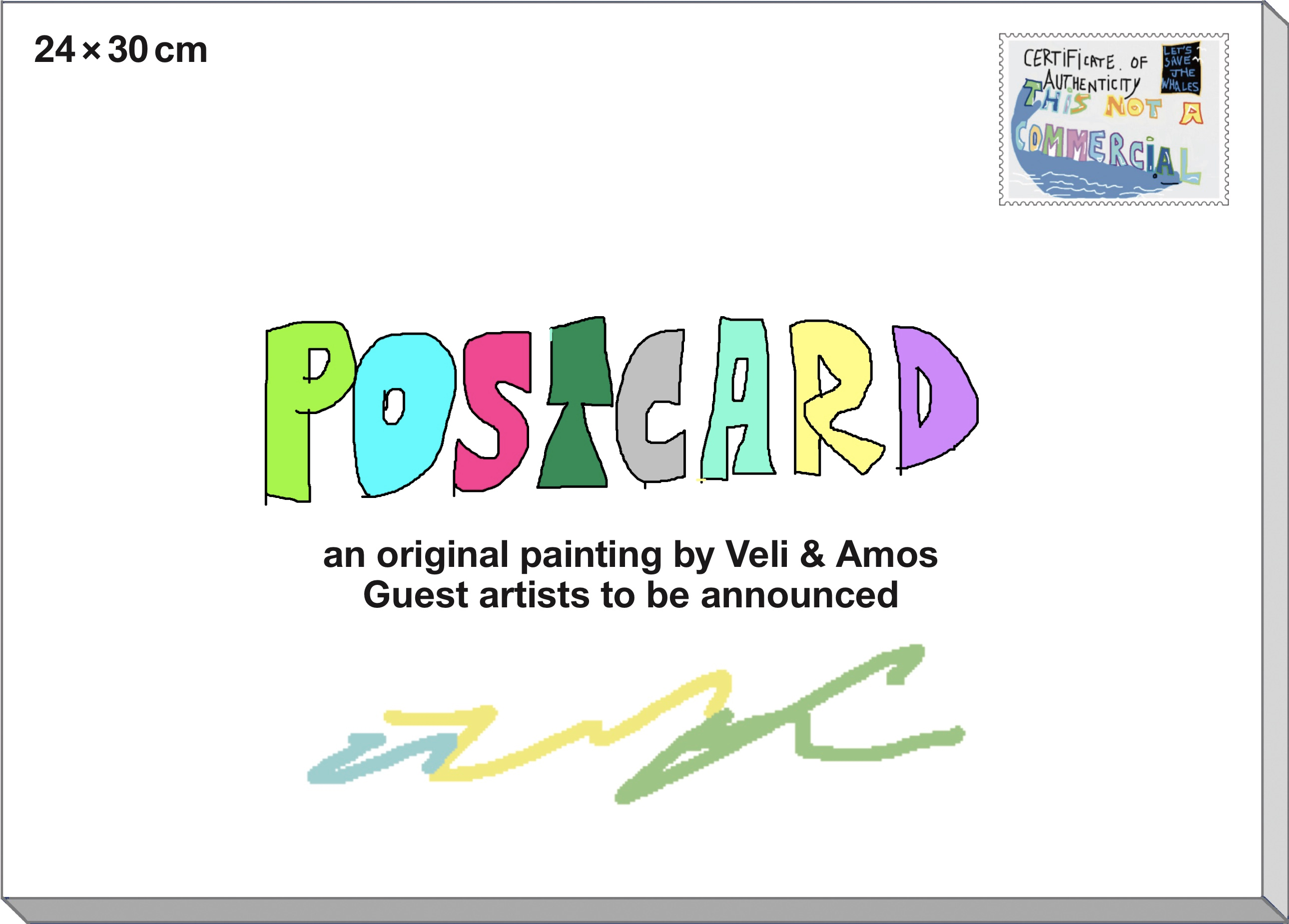 ORDER - an original painting by Veli & Amos. Guest artists to be announced